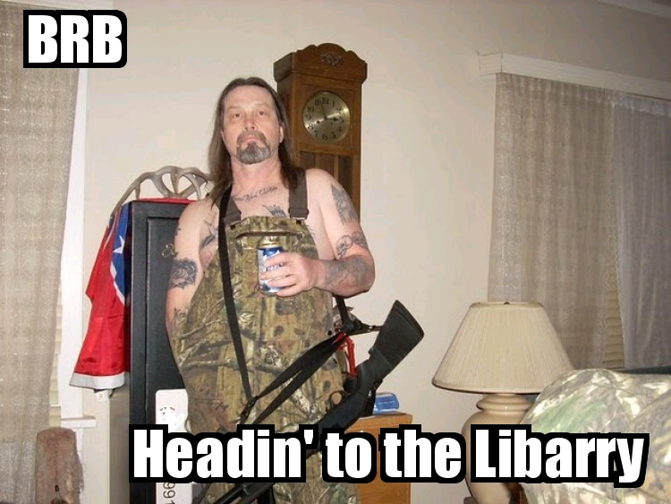BRB - Headin' to the Libarry
