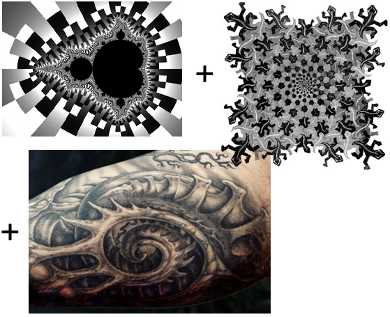 to describe what I have in mind for my tattoo. I love fractals.